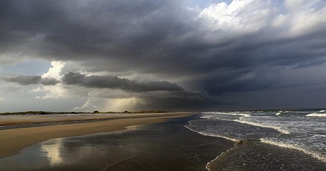 Storm on South Carolina beach