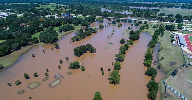 Flooded area from Hurricane Harvey