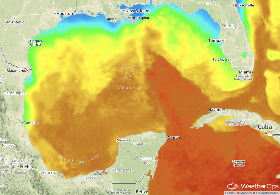 gulf of mexico sea surface temperatures (SSTs)