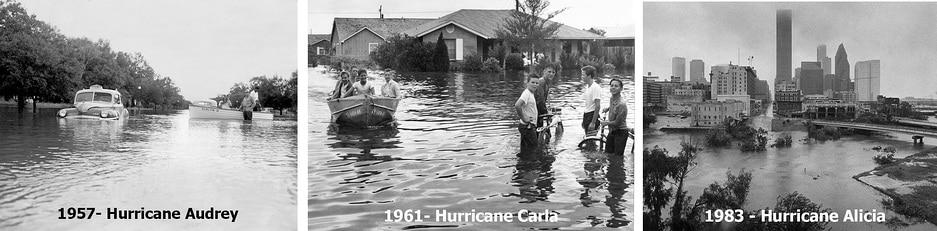 houston hurricane picture 1957 1961 1983