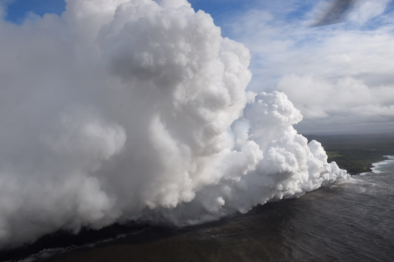 plumes of laze or lava haze