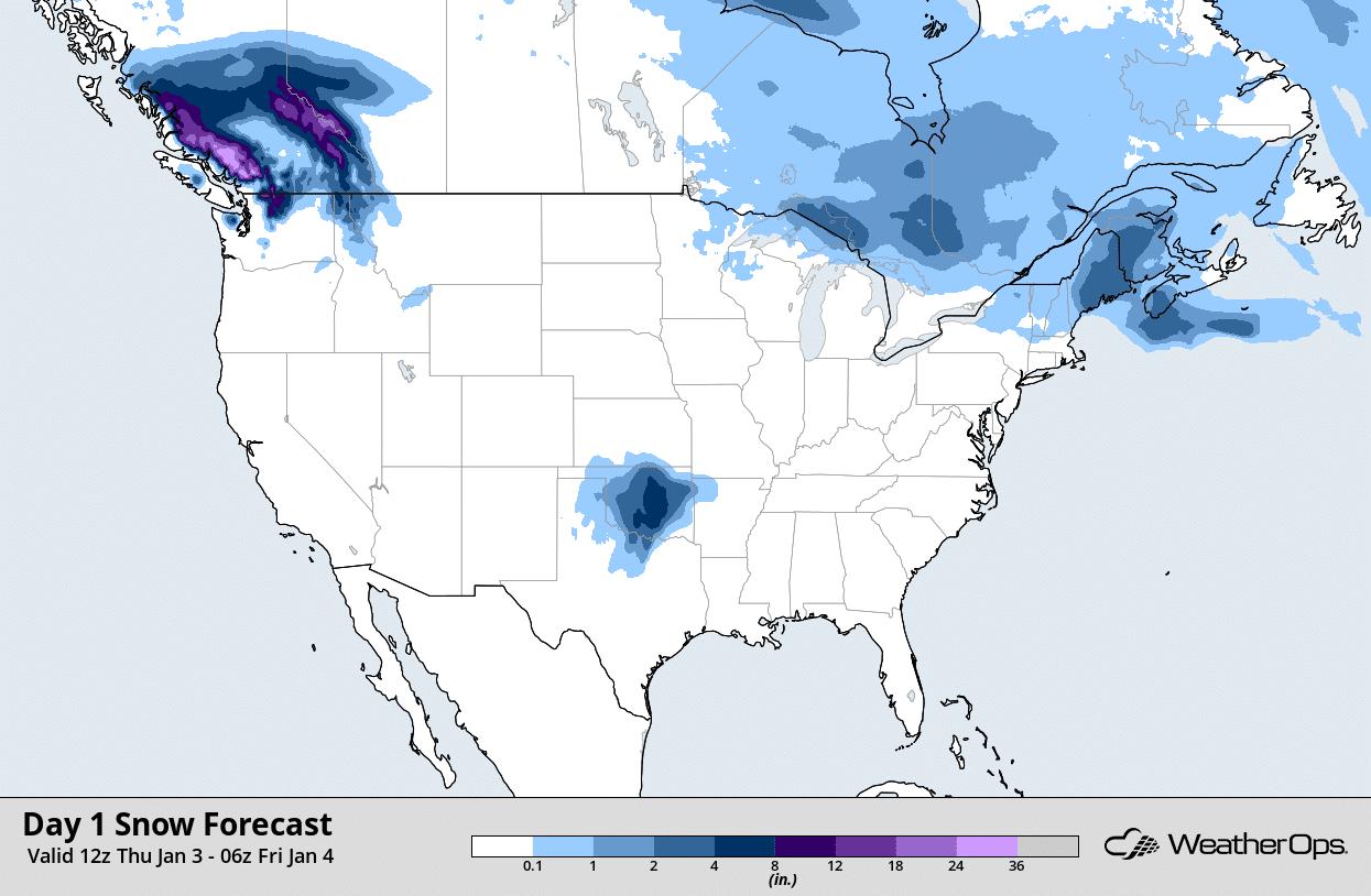 snow accumulation map