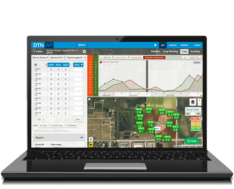 dtn agronomic platform on mobile screen