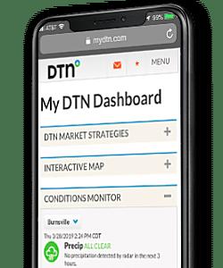 mydtn screenshot on black mobile