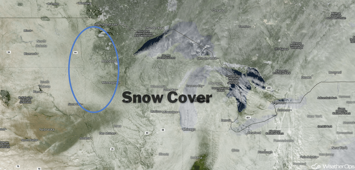 visible snow cover on satellite