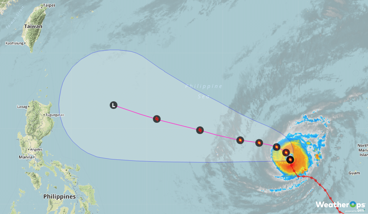 western pacific typhoon tracking map