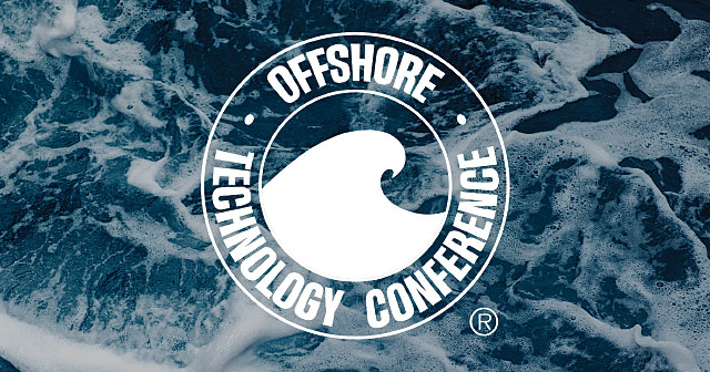 offshore technology conference logo over waves