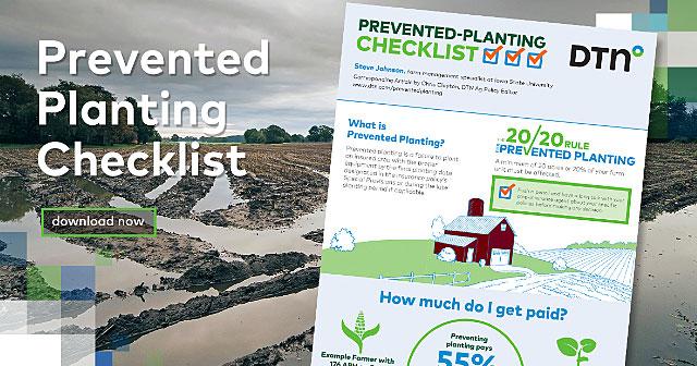 prevented planting checklist over ag background
