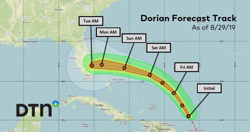 assessing hurricane dorian scenarios for oil  u0026 gasoline