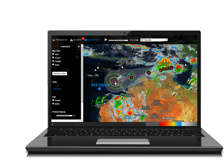 severe and tropical weather product screenshot laptop