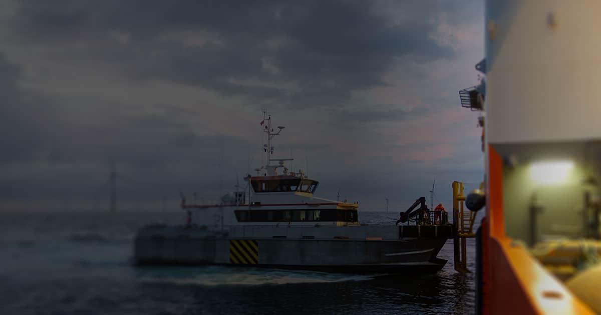 severe and tropical weather benefits vessel alongside oil platform