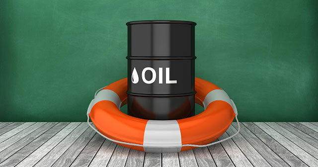 news insights oil barrel on dock with lifesaver