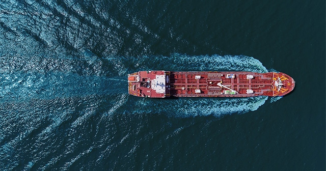 Oil Tanker sailing the seas