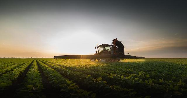 Sprayer in an Agricultural Field