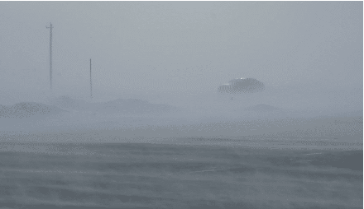 Near White Out Conditions in Minnesota