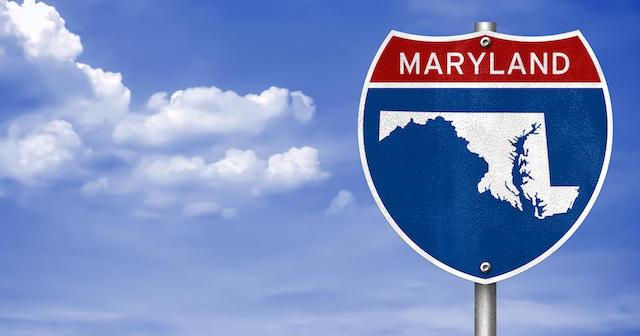 Maryland road sign