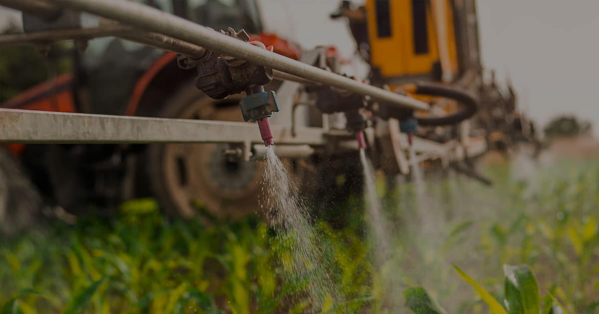 crop sprayer closeup