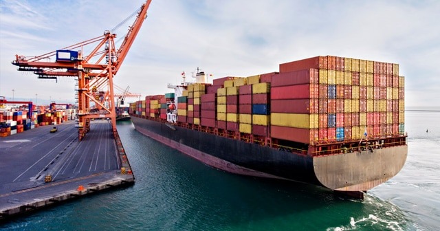 Container Ship in Port