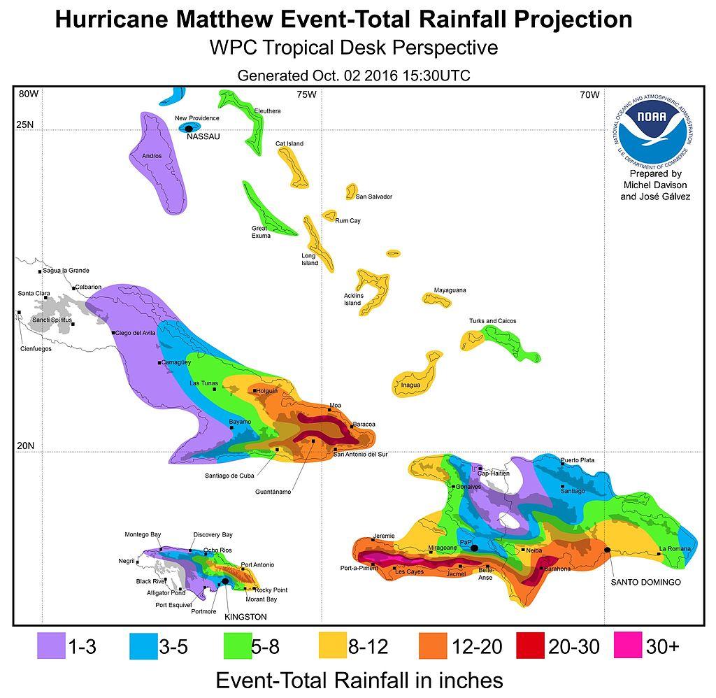 hurricane_matthew_october_2_2016_rainfall_forecast_for_caribbean