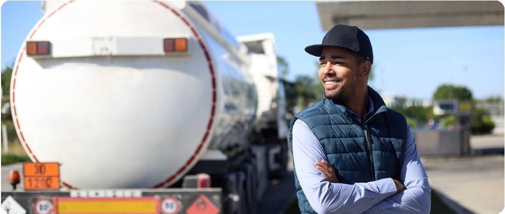 Fuel Truck Driver Smiling