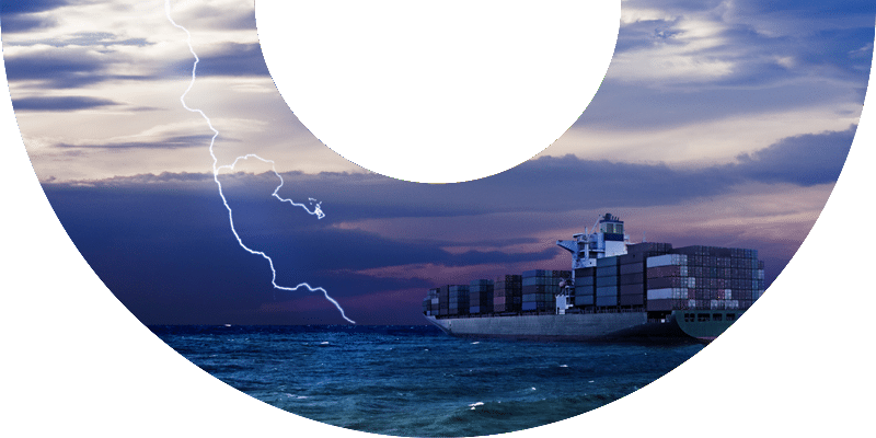 marine content services product card image ship at sea lightning background