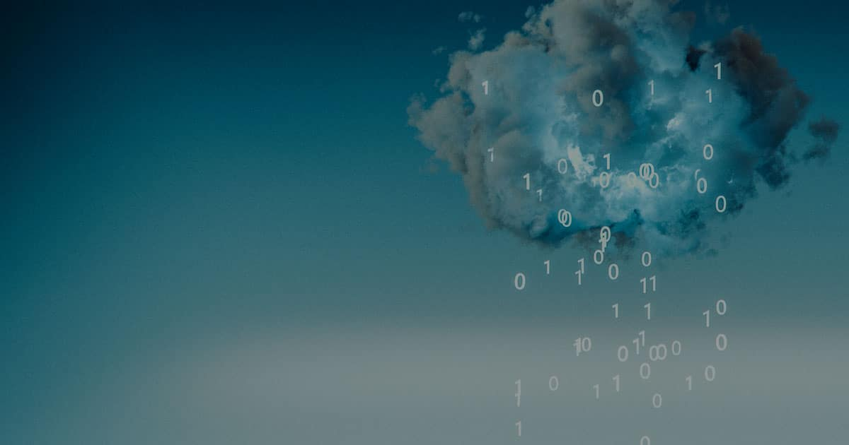 cloud raining binary numbers