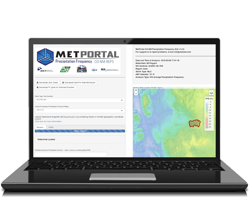MetPortal Laptop Screenshot