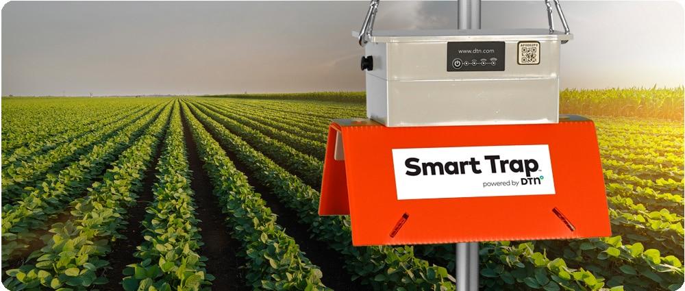 DTN Smart Trap in soybean field