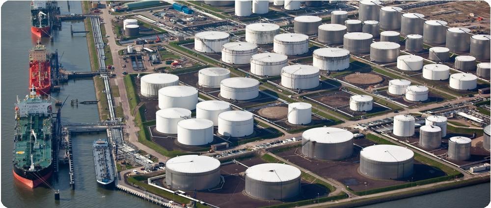 Port with Fuel Storage Tanks