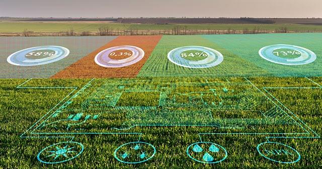 Field analysis concept digital overlay on field