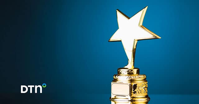 star trophy on blue background with dtn logo