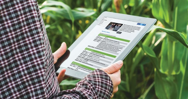 News Insights Farmer on Tablet