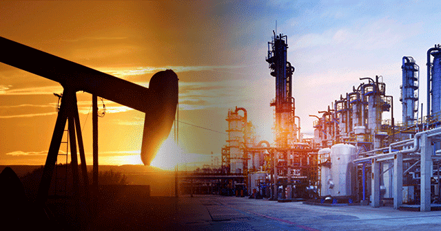 Blog Header Oil Pumpjack and Refinery