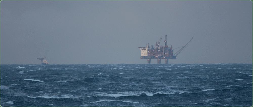 Offshore Platform in Storm