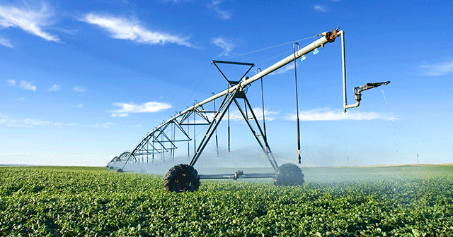 News Release Irrigation equipment in field