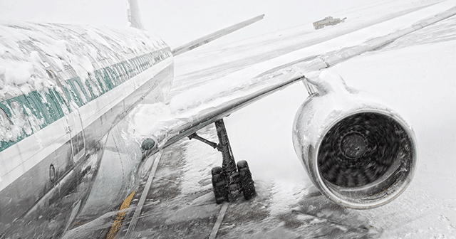 Blog Header Airplane covered in ice