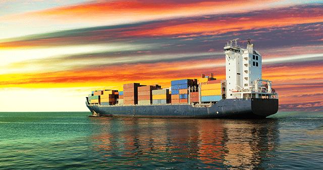 Blog Header Offshore Cargo Ship in Sunrise