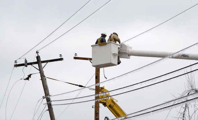 Damaged Power lines