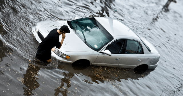 News Insights Car in flood