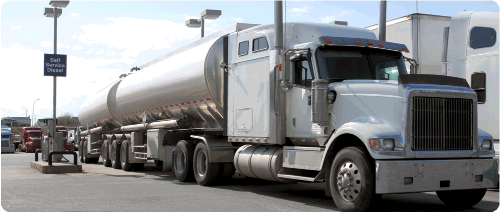 Fuel truck parked