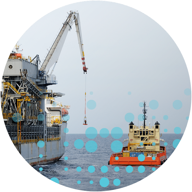 drill ship and transfer basket