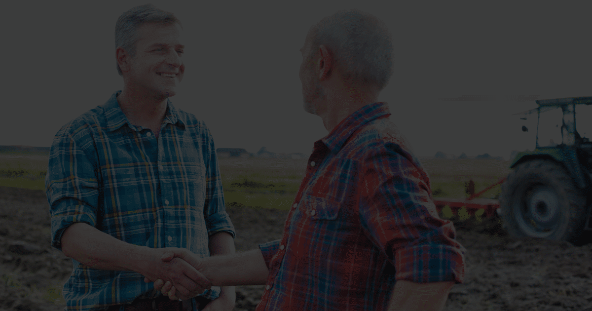 Benefit Farmers shaking hands