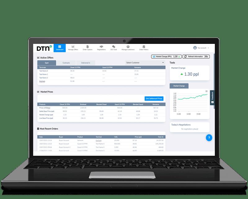 DTN Fuels Marketplace Seller Laptop Vector