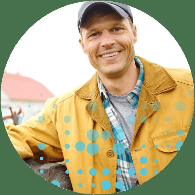 Farmer Smiling