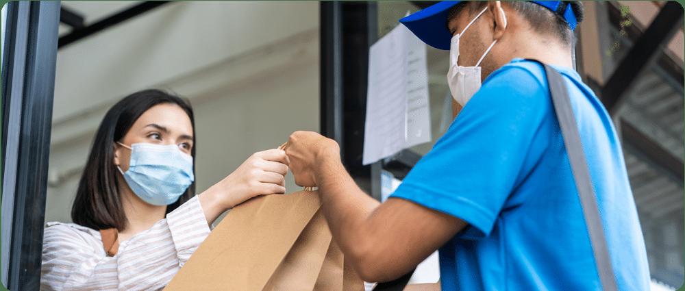 Masked food delivery
