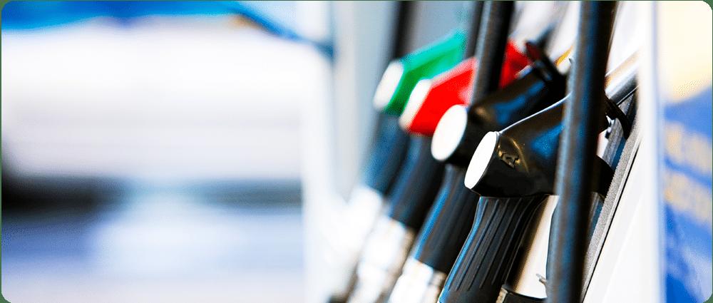 Gas pump close-up
