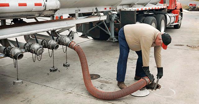 Blog Header Fuel truck driver delivering gasoline