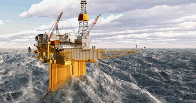 Blog Header Offshore platform in rough waves