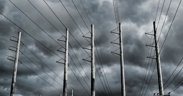 Tropical storm rolls in over city power supply