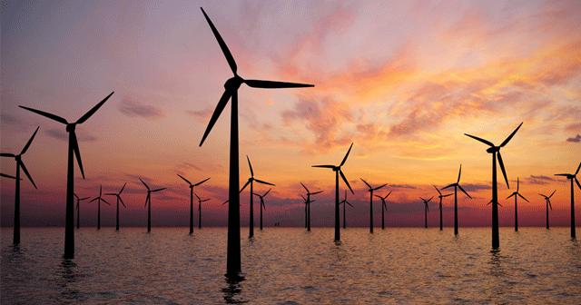 Blog header offshore wind farm silhouettes